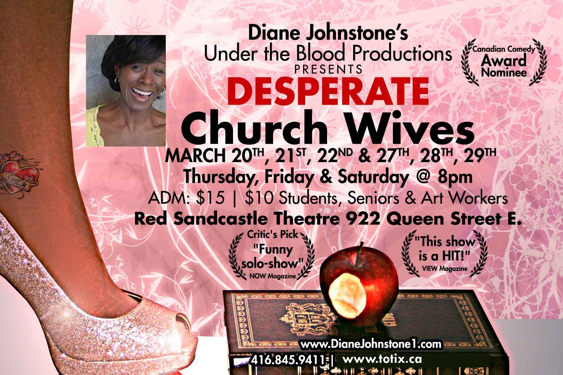 Red Sandcastle Poster - Desperate Church Wives