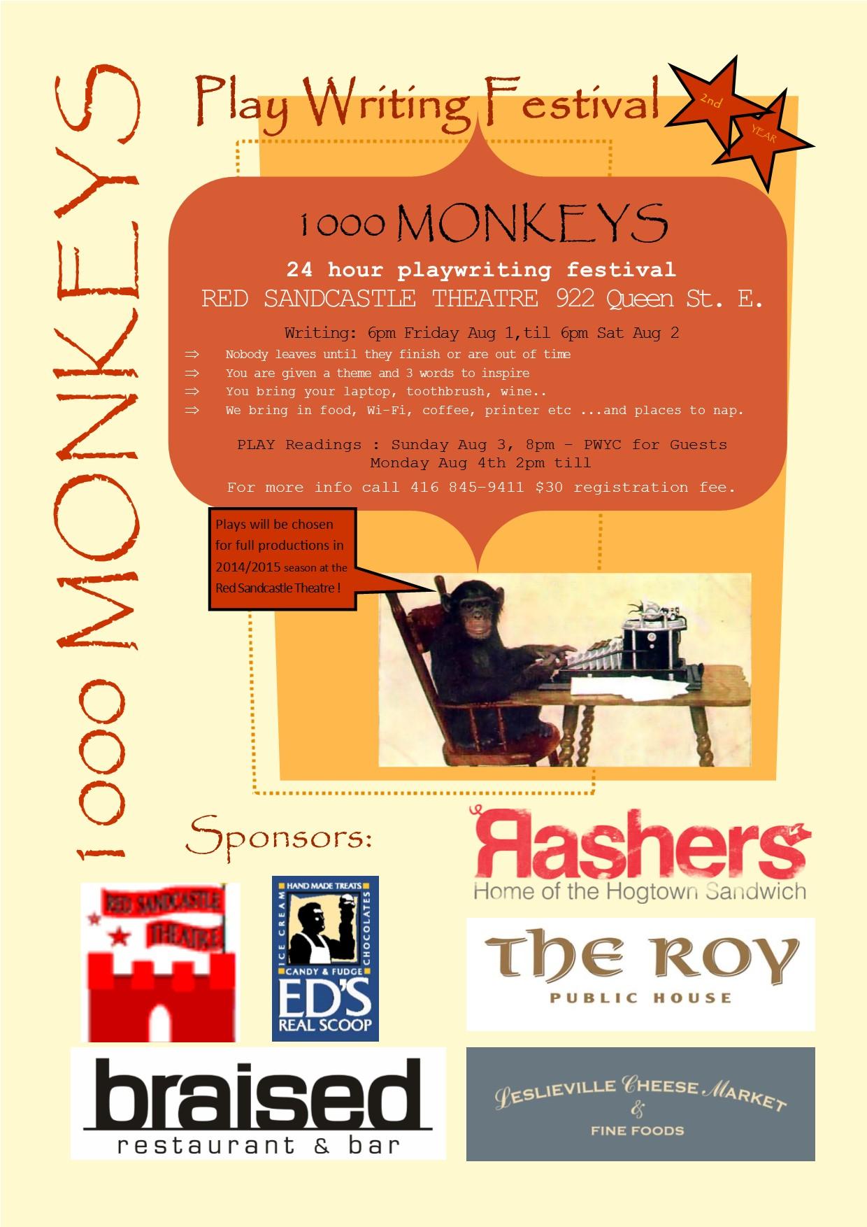1000 monkeys poster 1.1 2014