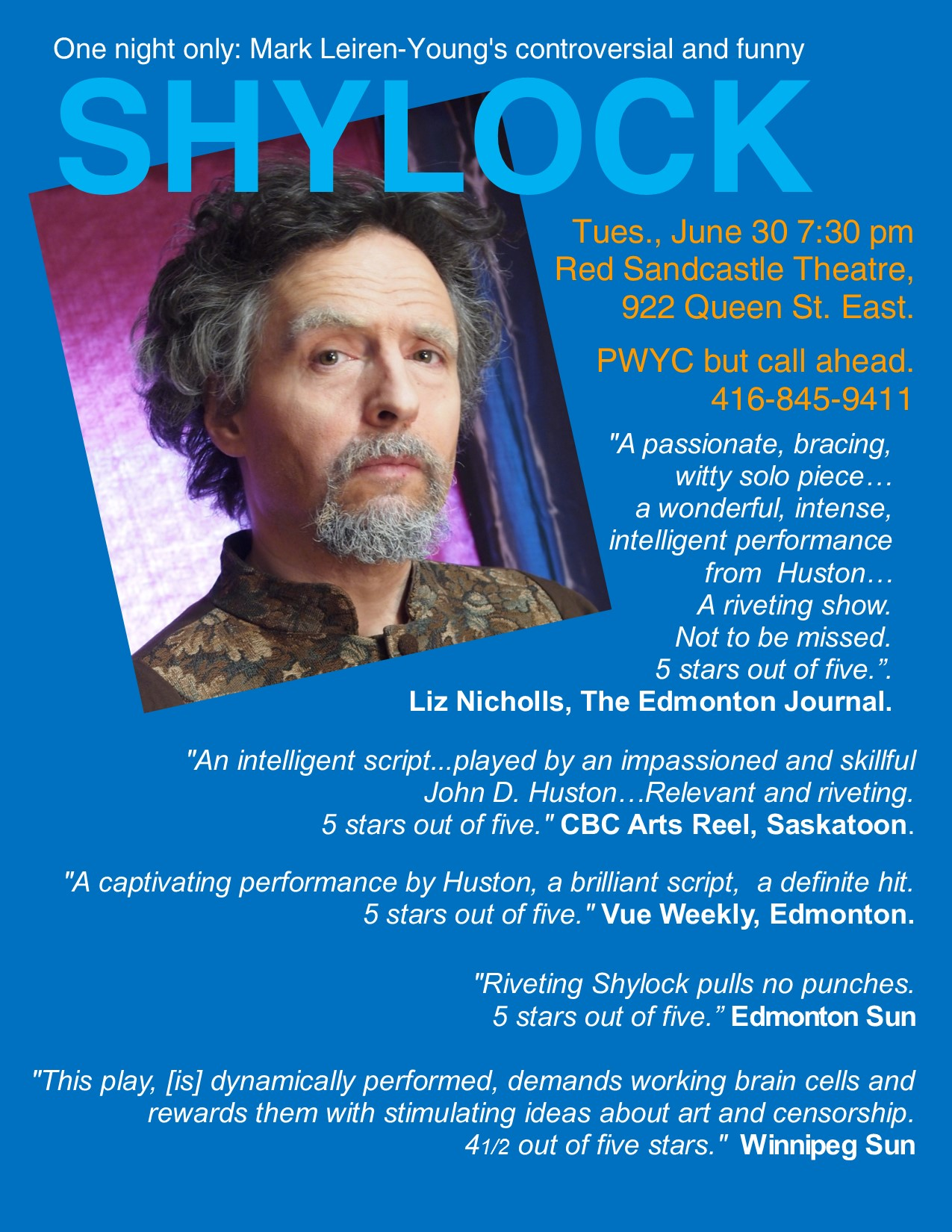Shylock Poster Blue