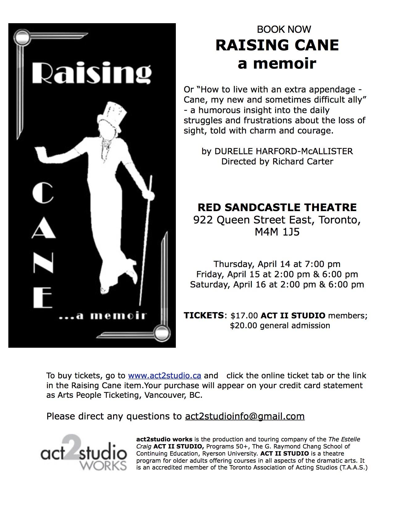 RAISING CANE poster copy
